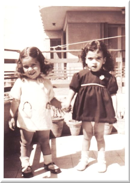 Nagat and Mona (3 years old cousins)