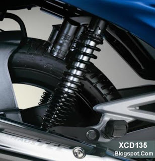 Nitrox shock absorber on the XCD 135