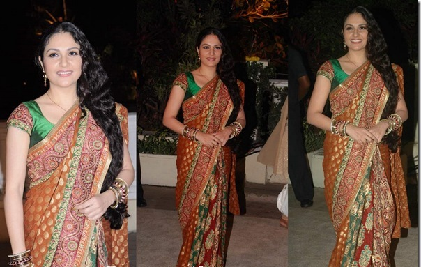 Gracy Singh in Bridal Saree Bollywood and South Indian actress Gracy Singh