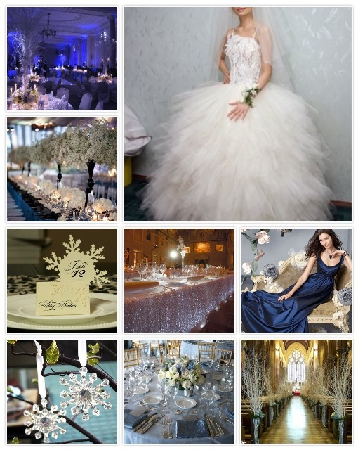 While it may be your first inclination to have a winter wedding feauturing