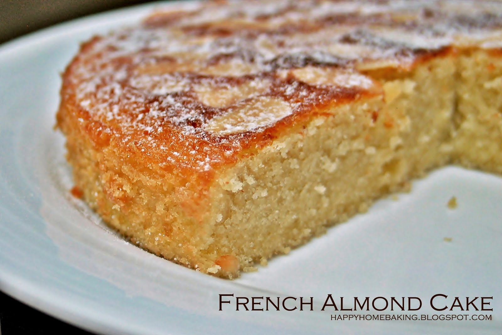 Happy home baking french almond cake for Easy basic cake recipes from scratch