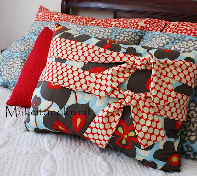 Decorate My Home, Part 6 - Pillow with Ties Make It and Love It