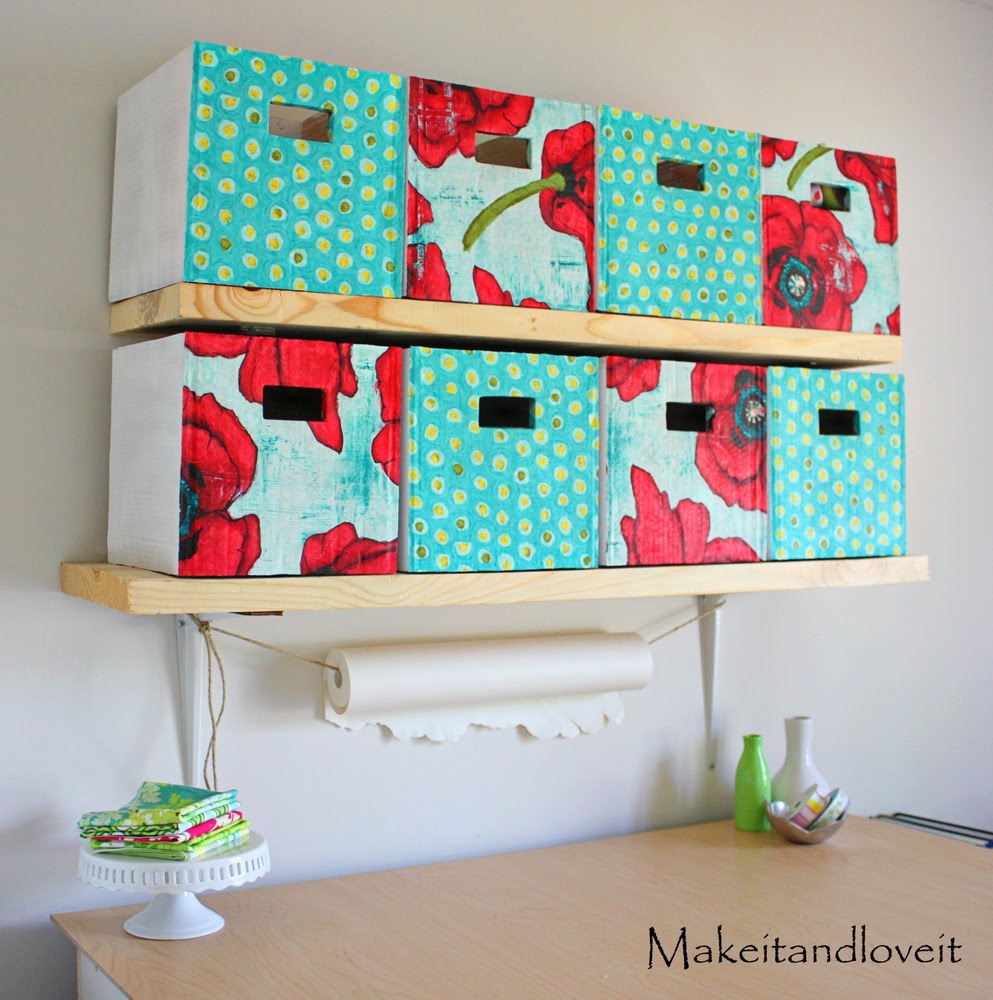 Save & Craft Room Part 1 (covered cardboard storage boxes) | Make It and ...