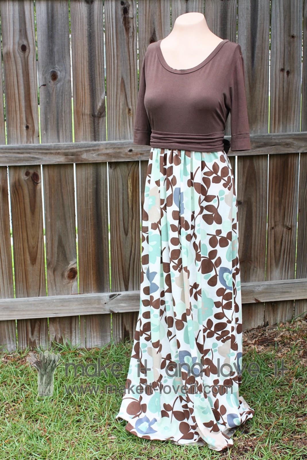 Re Purposing Womens Knit Shirt Into Dress Make It And Love It