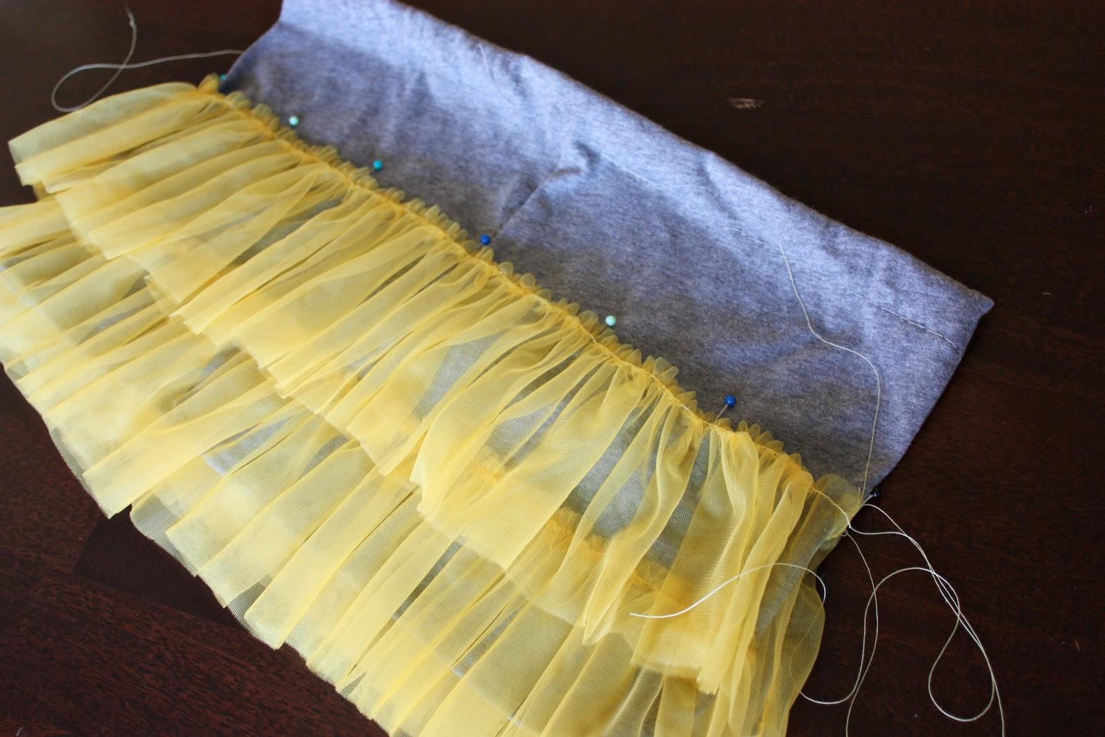 Как сшить многослойную юбку из органзы 33