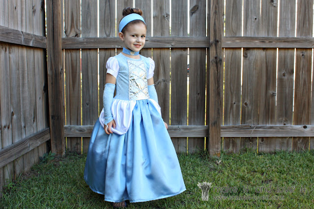Cinderella costume sewing tutorial