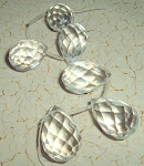 Faceted Quartz Briolettes