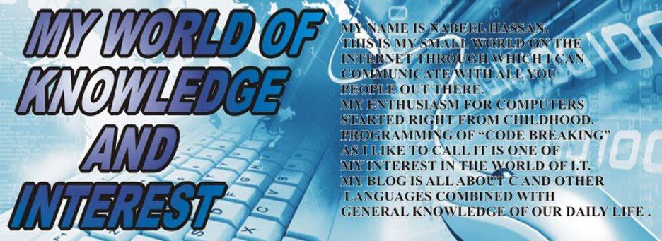 My World of Knowledge & Interest