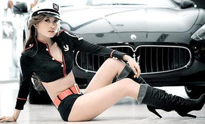 chica lindas y autos