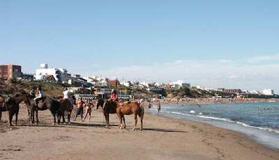 cabalgatas en playa argentina