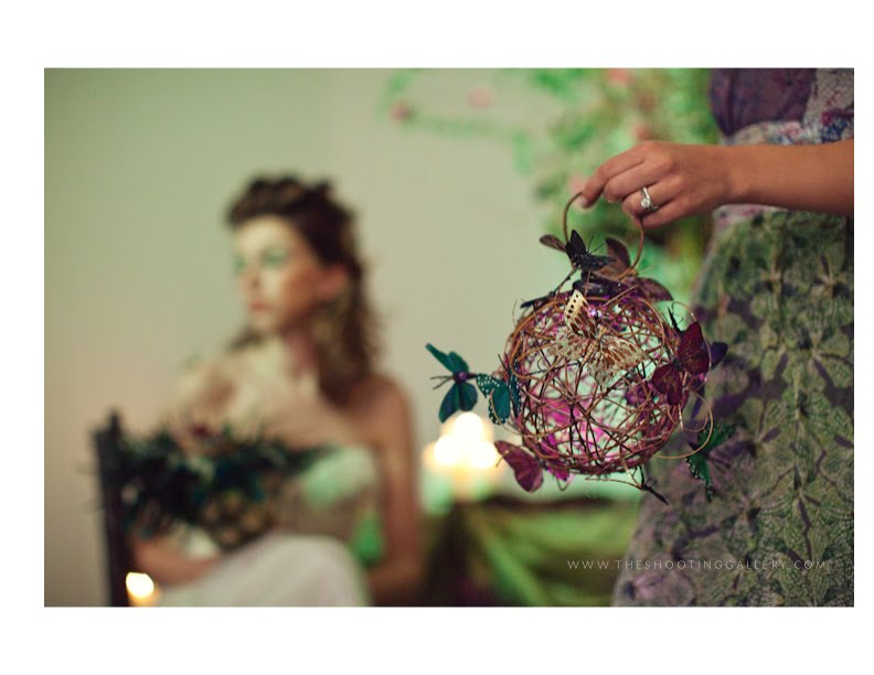 Style Me Pretty Enchanted Forest Wedding the Design