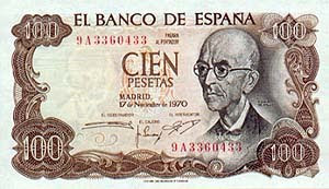 Currency History: Spanish peseta