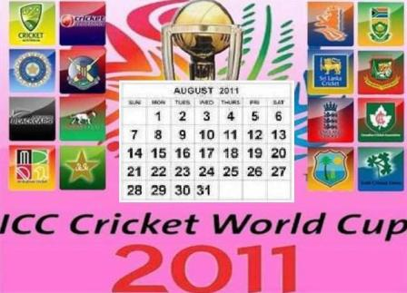 World Cup 2011 Schedule Download