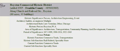 Royston on National Register of Historic Places