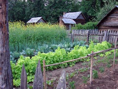 Oconaluftee Village garden