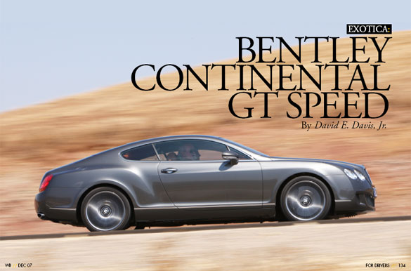 Bentley Continental Gt Speed. Bentley Continental GT Speed