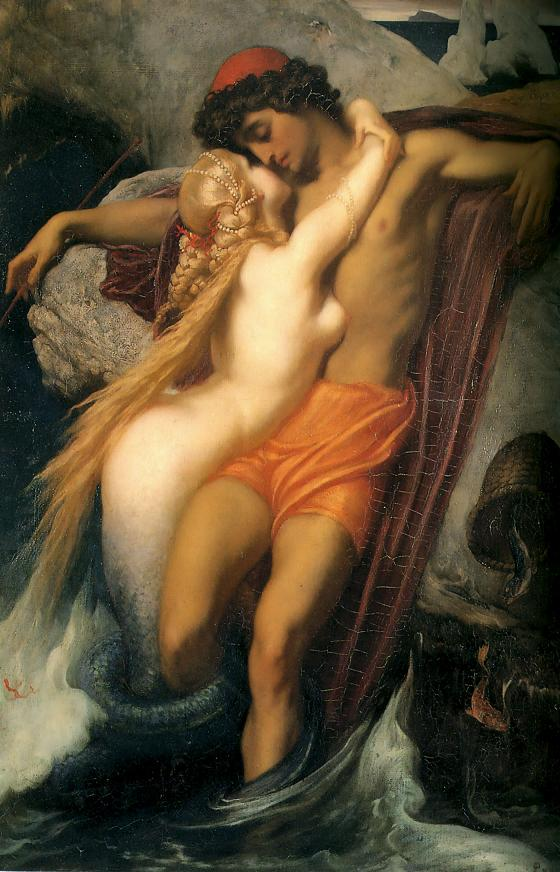Zena na slikarskom platnu - Page 2 Leighton-The_Fisherman_and_the_Syren-c._1856-1858+---40%2525
