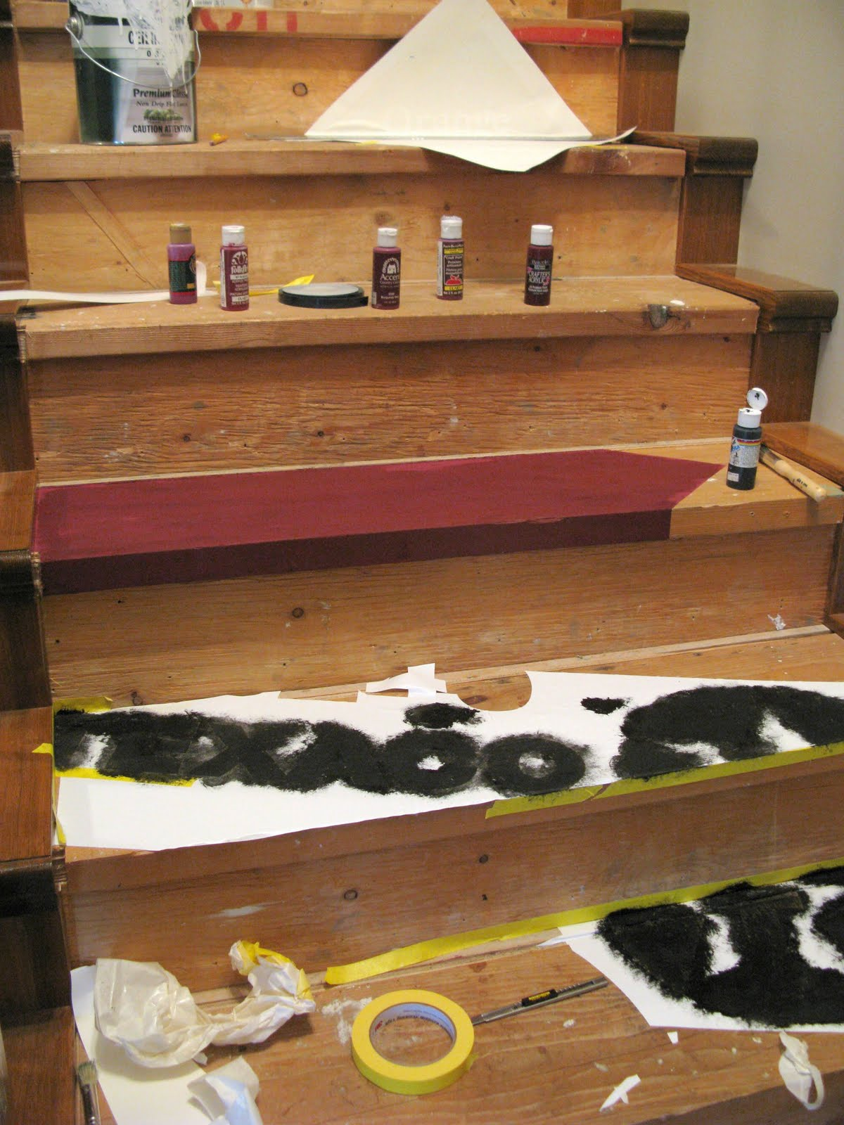 Painted wooden crate stairs via http www funkyjunkinteriors