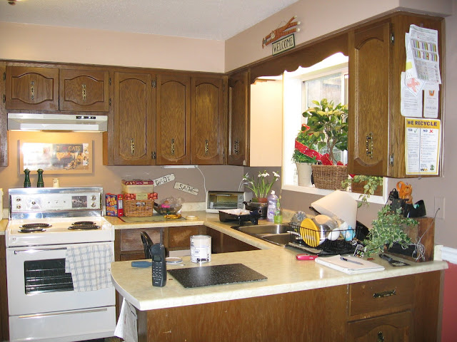 Kitchen before / All about me - a story of hope via FunkyJunkInteriors.net