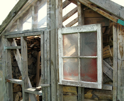 From greenhouse to rustic garden shed - part 1 - barn window