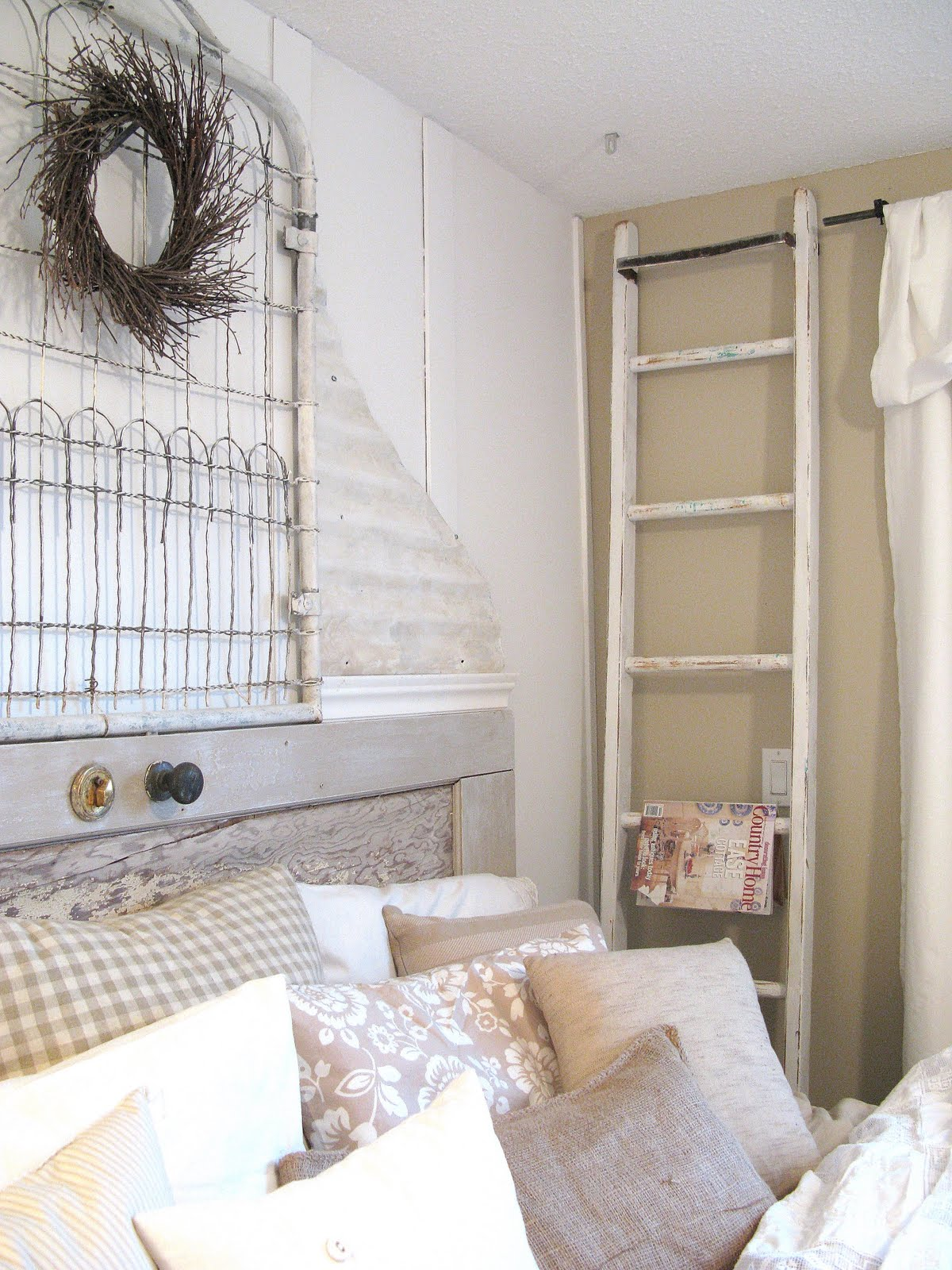 Funky Junque Interiors Master Bedroom Makeover Shabby Chic Whites Galore