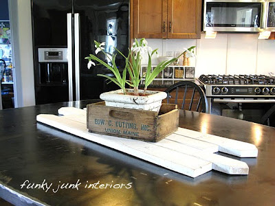 pallet wood table runner