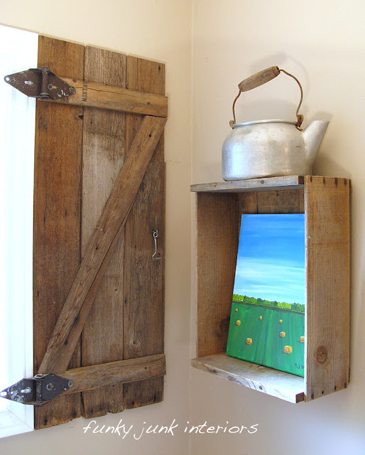 How To Build Your Own Barn Wood Shutterfunky Junk Interiors