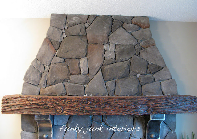 Creating an old gate for the fireplace mantel via http://www.funkyjunkinteriors.net/