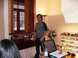 Conferência Aura-Soma realizada na Nova-Acrópole em Aveiro 28/02/09