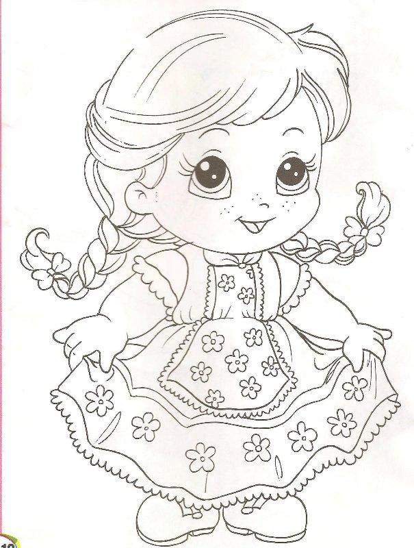 desenhos para pintar  menina