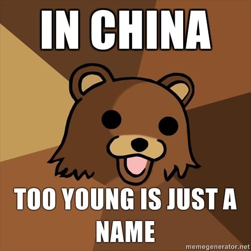In China - Too Young Is Just A Name