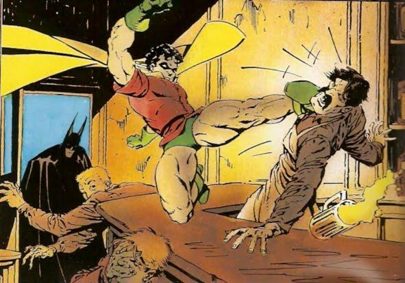Robin noqueando camereros