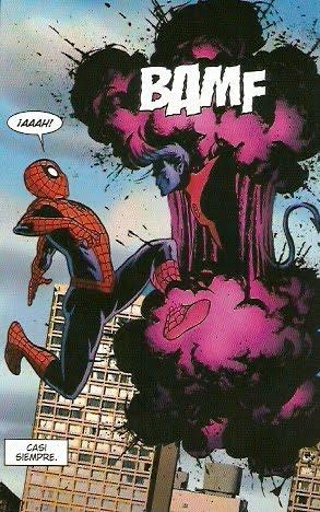 Ronador dándole sustos a Spiderman