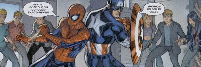 Spiderman & Capitán América rodeados