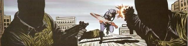 Capitán América lanzando su escudo