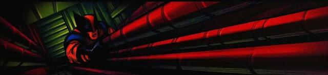 Wolverine subiendo por el cable del ascensor