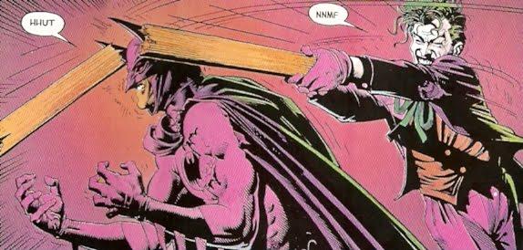 Joker rompiéndole la crisma a Batman