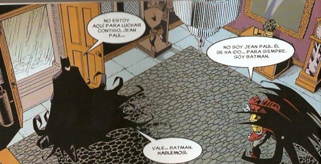 Batman discutiendo quien es Batman