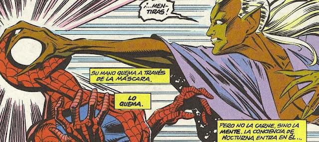 Spiderman & Nocturna intercambiando impresiones