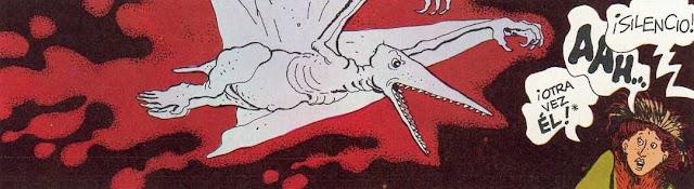 Adèle Blanc-Sec atacada por un pterodáctilo
