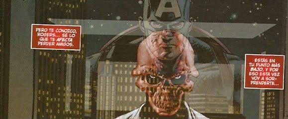 Craneo Rojo planeando la ruina de Capitán América