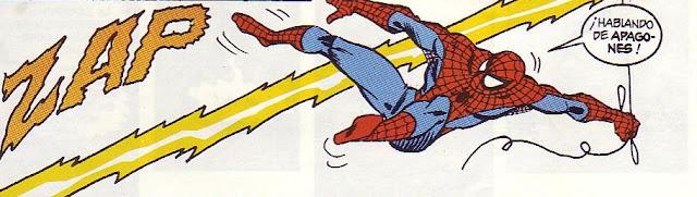 Spiderman por el rayo perseguido