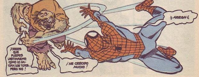 Spiderman sacudido por un paleto