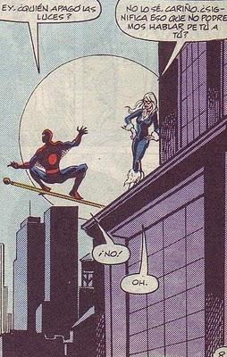 Spiderman & Gata Negra pelando la pava