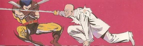 Wolverine defendiendose como puede