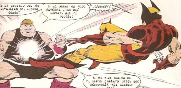 Wolverine y Mole chocando