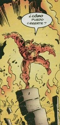 Wolverine haciendo acto de fe en pleno incendio