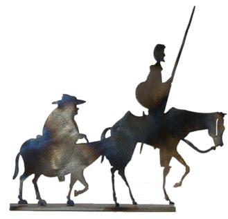 Don Quijote preparando las vacaciones