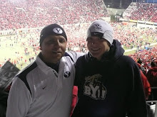 Father and Son at Football Game