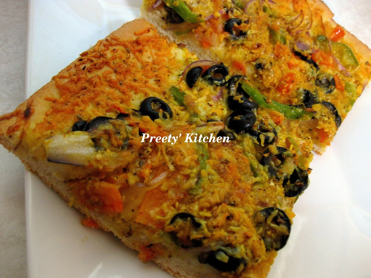 Preety's Kitchen: Semolina Pizza Dough Recipe